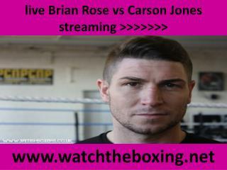 live Brian Rose vs Carson Jones streaming >>>>>>>