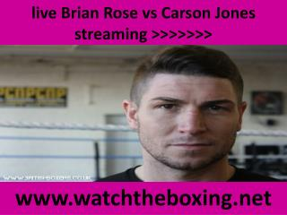 watch Carson Jones vs Brian Rose live boxing 14 feb 2015