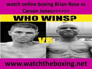 streaming ((()))) Carson Jones vs Brian Rose 14 feb 2015