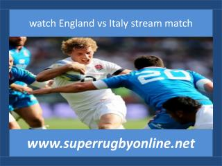 Italy vs England live rugby