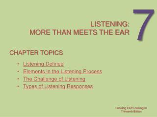 Listening: more than meets the ear