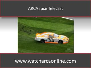 ARCA race Telecast