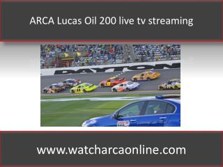 ARCA Lucas Oil 200 live tv streaming