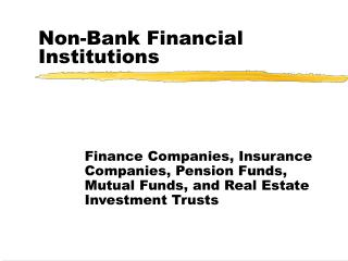 Non-Bank Financial Institutions