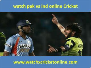 watch pak vs ind online Cricket