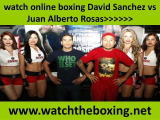 live boxing fight Sanchez vs Rosas online