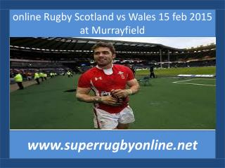 watch Scotland vs Wales live coverage