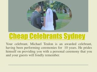 Cheap Celebrants Sydney