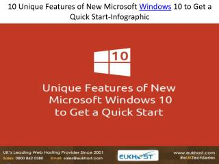 10 Unique Features of New Microsoft Windows 10 to Get a Quic