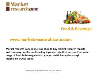 Food & Beverage market research reports and company profiles