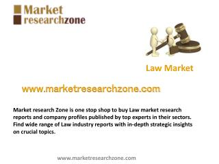 Law market research reports and company profiles