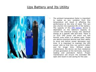 Ups Battery and Its Utility.pptx