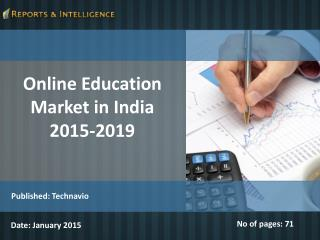 Online Education Market in India 2015-2019