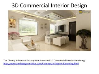 3D Commercial Interior Rendering