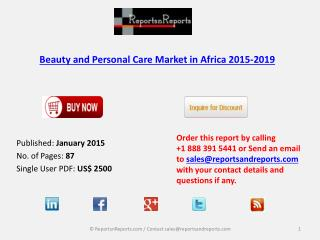 Beauty and Personal Care Market in Africa 2015-2019