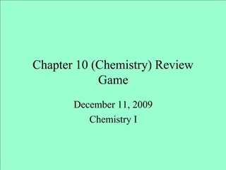 Chapter 10 Chemistry Review Game