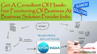 Business Solution Provider India consults Business Solution