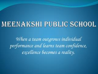 Meenakshi Public School