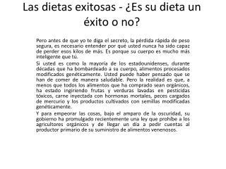 Dietas exitosas - Dieta de los puntos