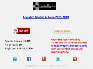 New Report on Analytics Market in India 2015-2019