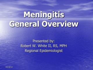 Meningitis General Overview