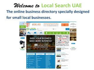 The online business directory specially designed for small l