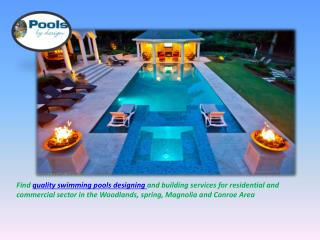 Pools Design for Residential and Commercial Sector