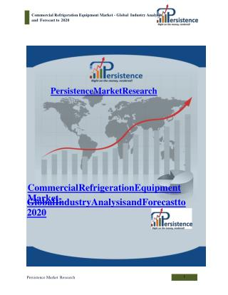 Commercial Refrigeration Equipment Market - Global Industry