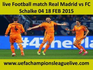 IOS stream Football ((( Real Madrid vs FC Schalke 04 )))