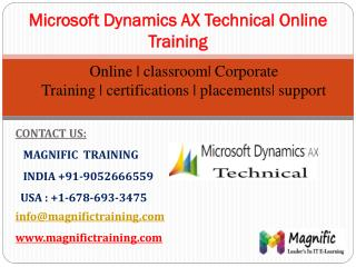 ms dynamics ax technical online training in usa