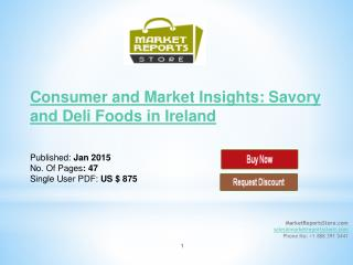 Ireland Savory and Deli Foods : Future market insight