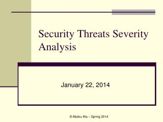 Security Threats Severity Analysis