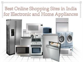 Best Online Shopping Sites in India for Home Appliances