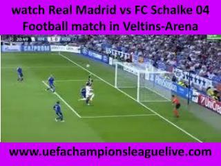 hot streaming@@@@ Schalke vs Real Madrid
