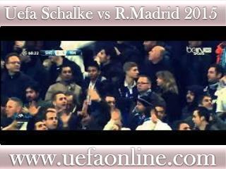 watch ((( Schalke vs R.Madrid ))) live Football match 18 FEB