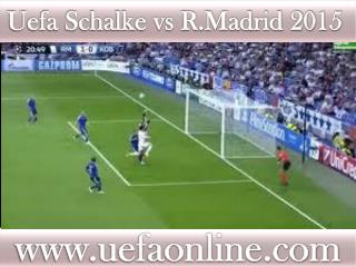 watch Real Madrid vs Schalke in Veltins-Arena 18 FEB