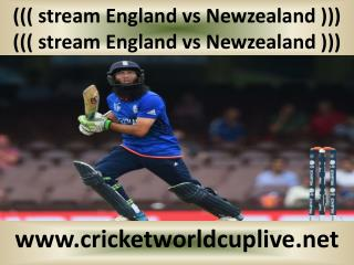 Newzealand vs England match will be live telecast on 20 feb