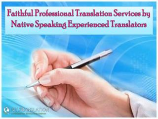 Faithful Professional Translation Services