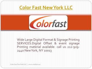 Digital Large Format Printing Company|signage material NYC