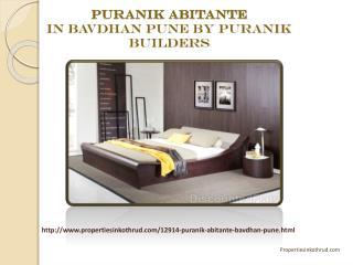 Puranik Abitante in Bavdhan Pune by Puranik Builders