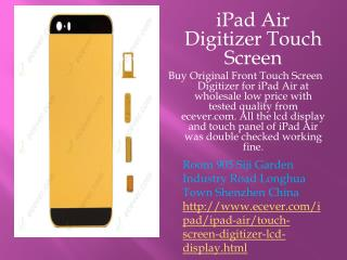 Buy iPad Air Digitizer Touch Screen at affordable rates