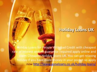 Bad Credit Holiday Loans