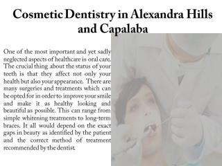 Cosmetic Dentistry in Alexandra Hills and Capalaba