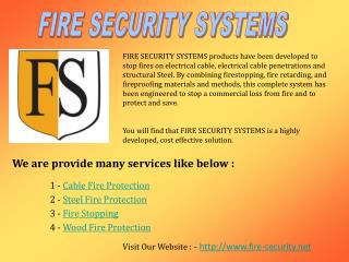 Fire Stopping | Fire Protection Products | Fireproofing