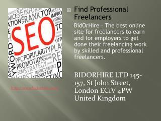 Find Online Professional Freelancers Jobs