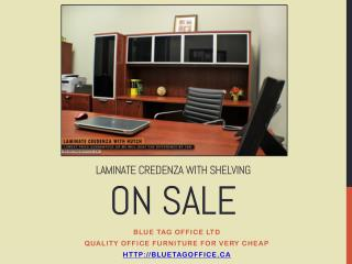 Laminate Credenza With Shelving on SALE at Blue Tag Office
