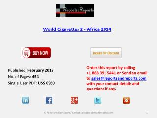 Cigarettes 2 Industry Prospects and Forecasts - Africa