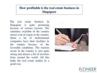 How profitable is the real estate business in Singapore