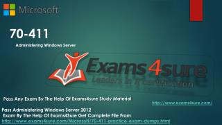 70-411 - ADMINISTERING WINDOWS SERVER 2012 Study Classes