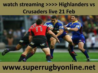 watch Crusaders vs Highlanders live Rugby match online feb 2